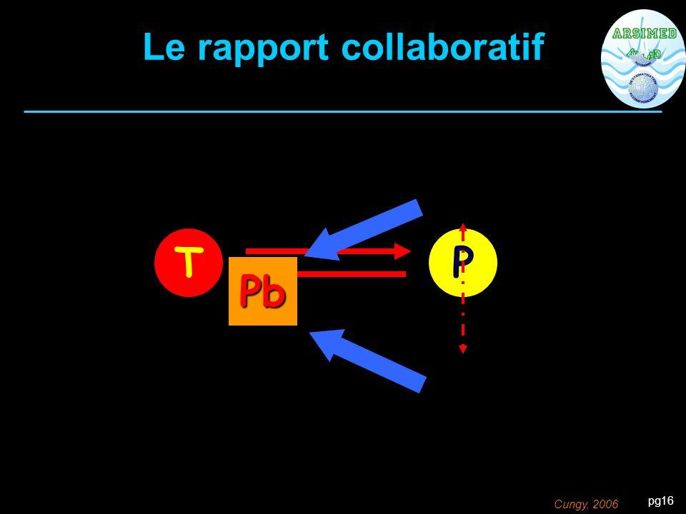 pg16 TP Pb Le rapport collaboratif Cungy, 2006