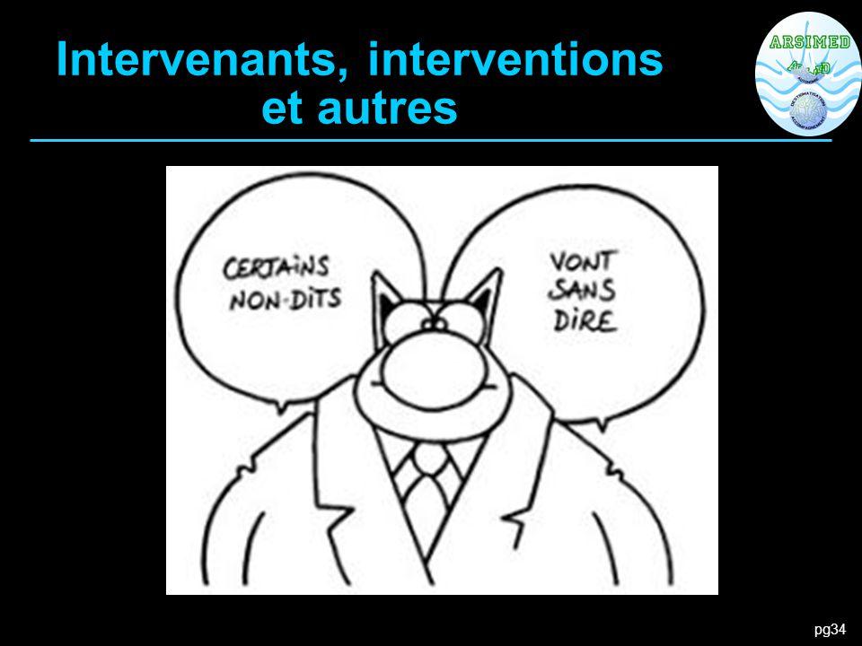 pg34 Intervenants, interventions et autres