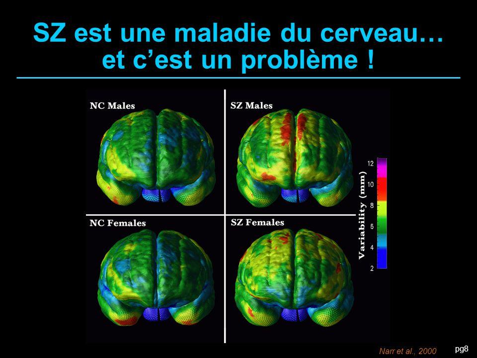 pg8 SZ est une maladie du cerveau… et c'est un problème ! Narr et al., 2000