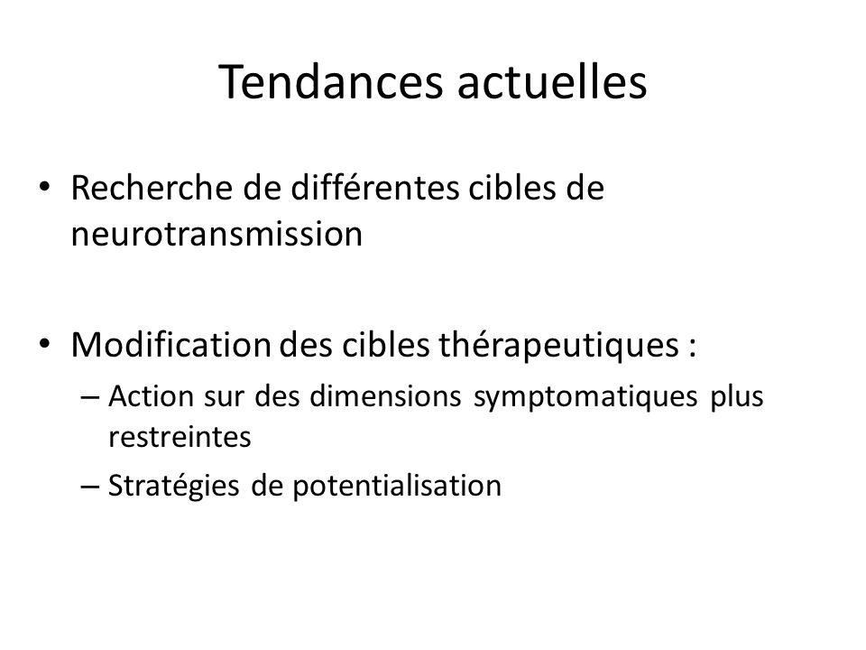 Cibles de la neurotransmission
