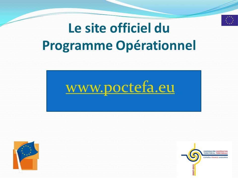 Le site officiel du Programme Opérationnel www.poctefa.eu 8