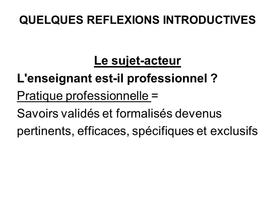 Action des composantes Facteurs de la classe (temps, effectifs, discipline, organisat.