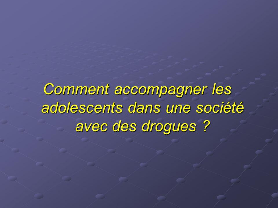 Comment accompagner les adolescents dans une société avec des drogues ?