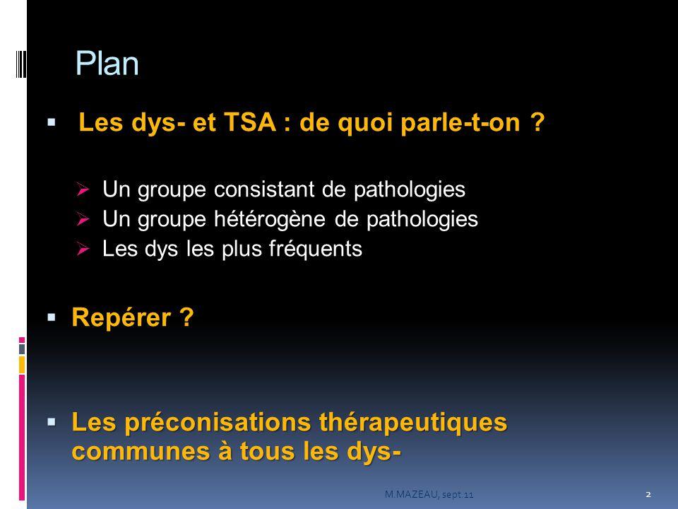 Plan  Les dys- et TSA : de quoi parle-t-on .