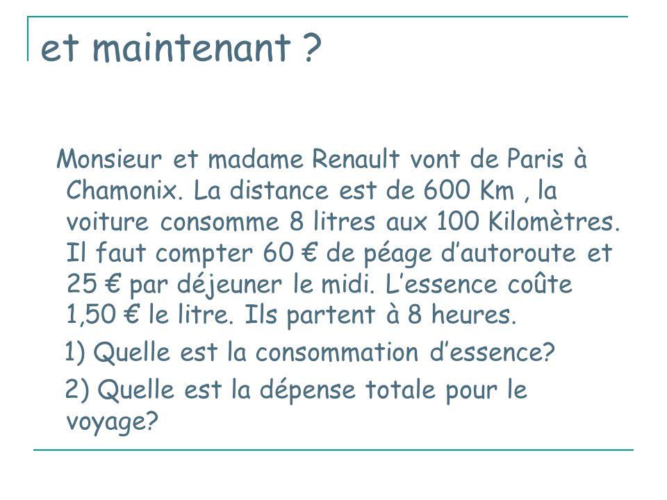 et maintenant .Monsieur et madame Renault vont de Paris à Chamonix.