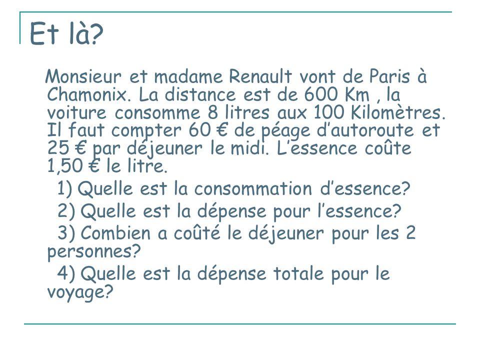Et là.Monsieur et madame Renault vont de Paris à Chamonix.