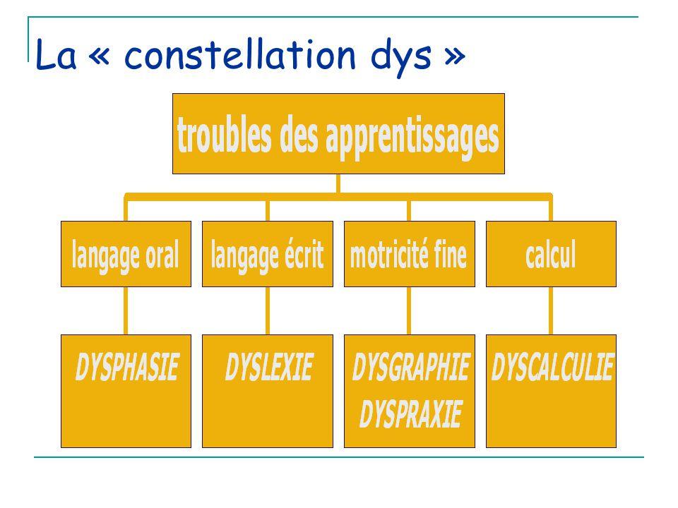 Les dysphasies Le temps seulement permet de différencier retard de langage et dysphasie Handicap sévère Codes CIM 10 F 800 à F809