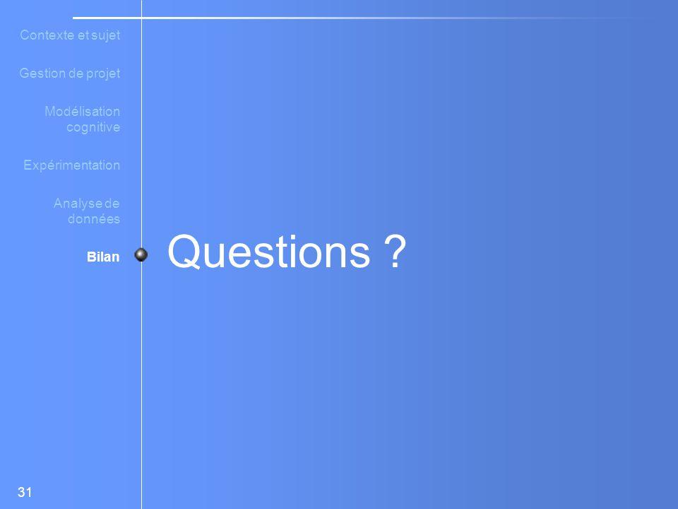 31 Questions .