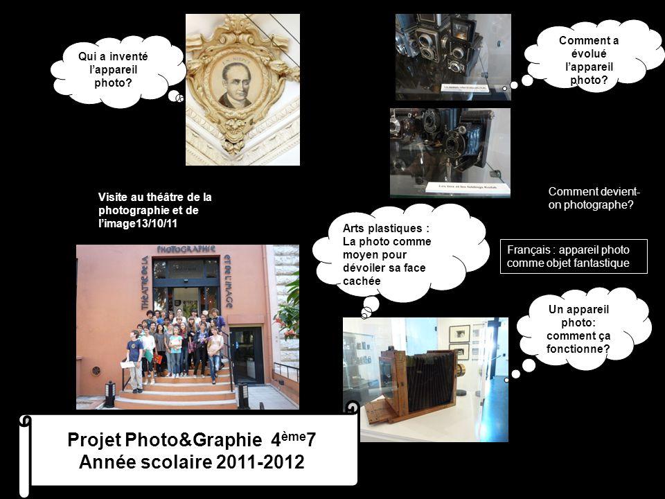 Comment a évolué l'appareil photo? Visite au théâtre de la photographie et de l'image13/10/11 Qui a inventé l'appareil photo? Un appareil photo: comme