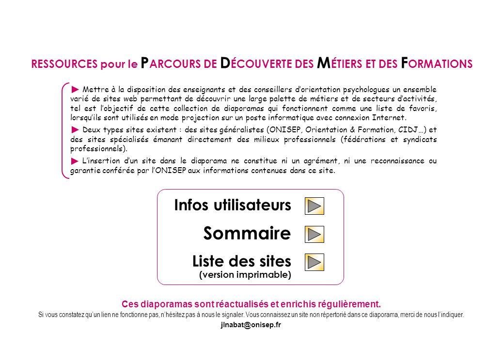 Sommaire MÉTIERS DES ARTS ET DE LA CULTURE - MÉTIERS D'ART  1 page / 2 sites THÉÂTRE - SPECTACLE VIVANT  2 pages / 3 sites MÉTIERS DU DESIGN  2 pages / 3 sites MUSIQUE  1 page / 1 site DANSE  1 page / 1 site Sites spécialisés : 7 pages / 10 sites Octobre 2011 ARTS - SPECTACLE - THÉÂTRE - MUSIQUE - DANSE GRAPHISME - ARTISANAT D'ART - DÉCORATION RESSOURCES pour le P ARCOURS DE D ÉCOUVERTE DES M ÉTIERS ET DES F ORMATIONS