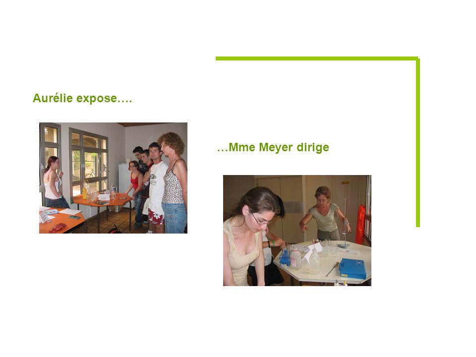 Aurélie expose…. …Mme Meyer dirige