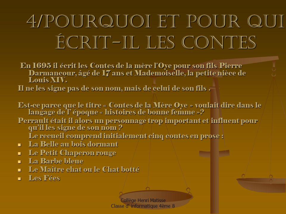 Collège Henri Matisse Classe d informatique 4ème 8 5/Sa façon d' écrire 1.
