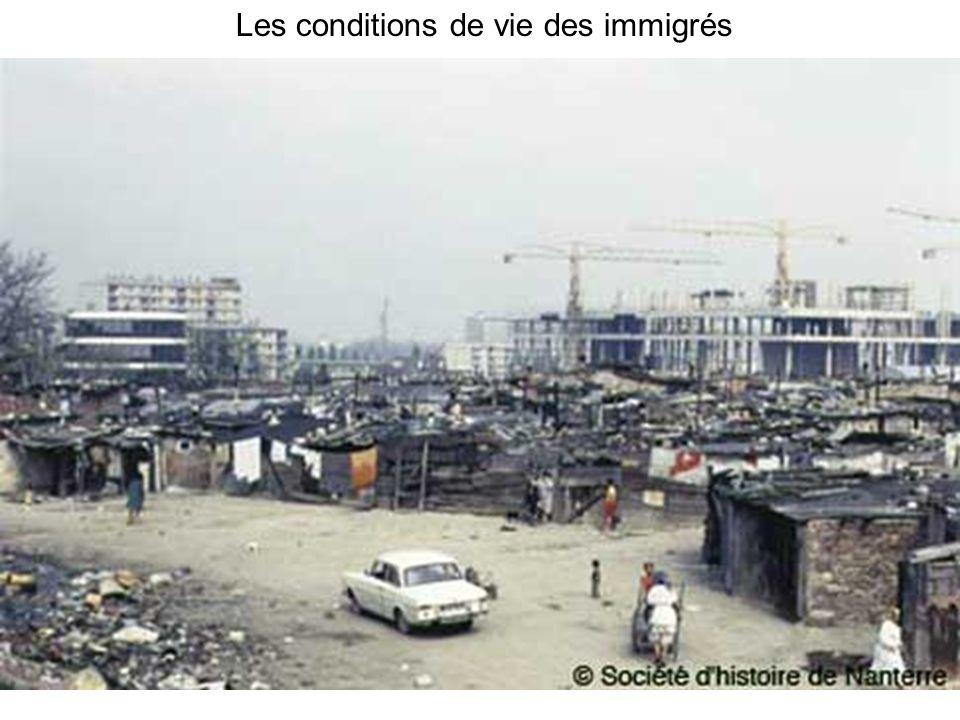 Les conditions de vie des immigrés