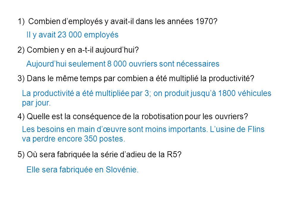 1)Combien d'employés y avait-il dans les années 1970.