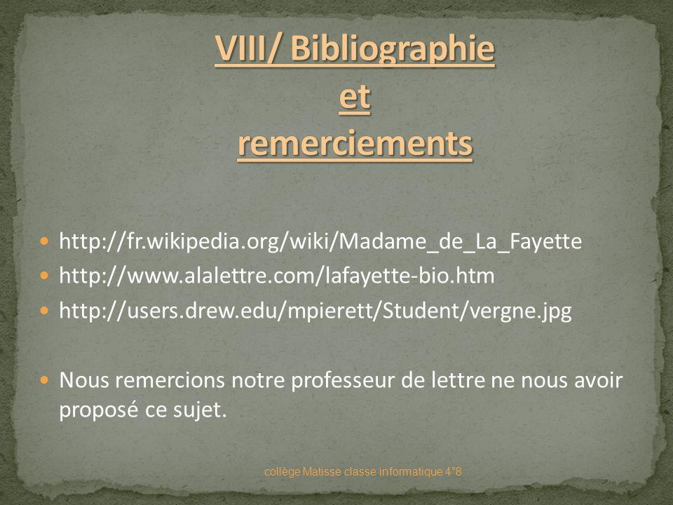 Madame De La Fayette, auteur Français du XVII siècle, est un écrivain discret qui publia ses œuvres de façon anonyme ou signé par ses amis ; son nom a