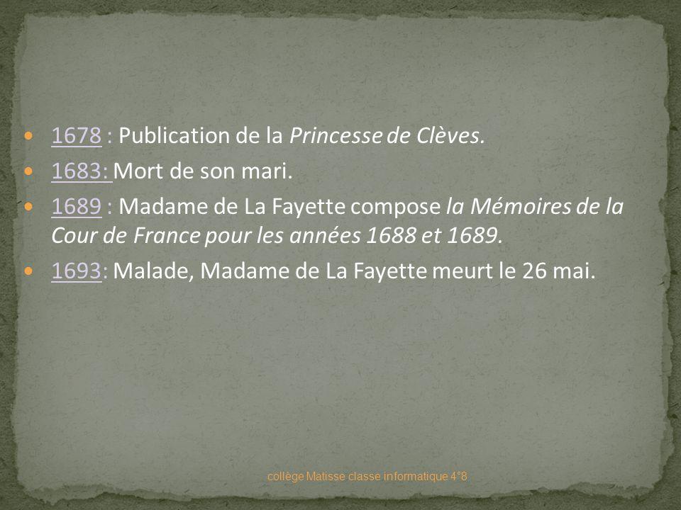 En tant que femme noble, Madame de La Fayette refuse de prendre un pseudonyme, mais il n'est pas question de signer de son véritable nom. Elle fit don
