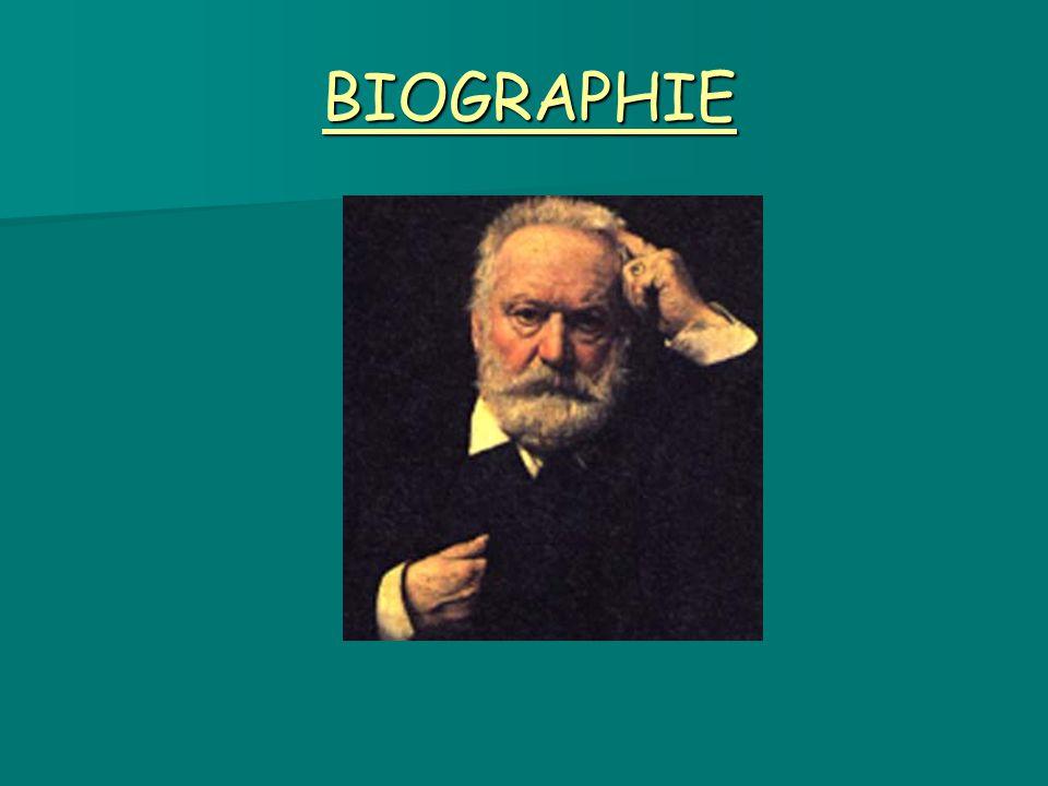 Sa jeunesse Victor Hugo est né le 26 février 1802 à Besançon.