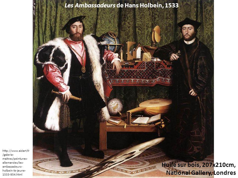 Les Ambassadeurs de Hans Holbein, 1533 Huile sur bois, 207x210cm, National Gallery, Londres http://www.aidart.fr /galerie- maitres/peintures- allemandes/les- ambassadeurs- holbein-le-jeune- 1533-954.html