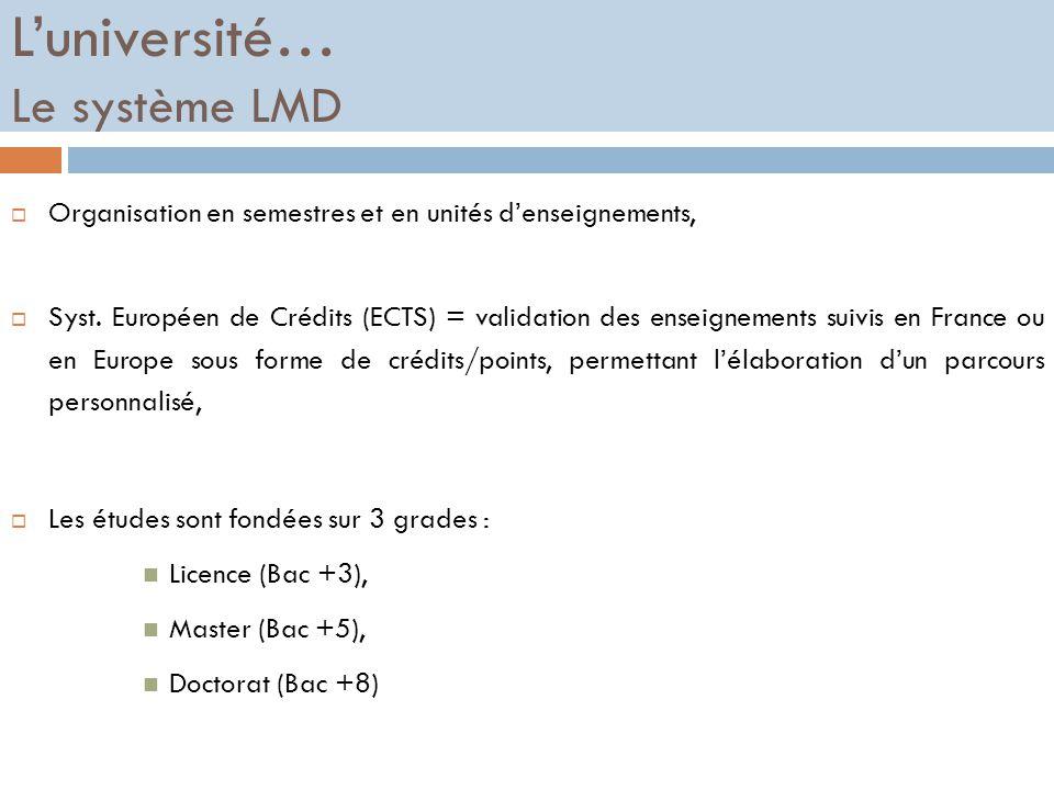 Les formations longues  L'université (la fac),  Les Classes Préparatoires aux Grandes Ecoles (CPGE),  Les écoles spécialisées