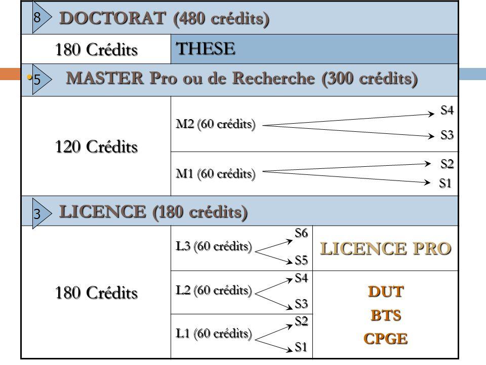L'université… Le système LMD  Organisation en semestres et en unités d'enseignements,  Syst. Européen de Crédits (ECTS) = validation des enseignemen
