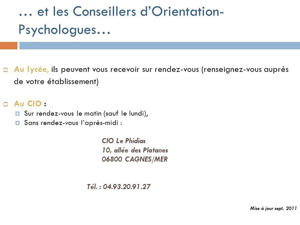 Pour en savoir plus…  Brochures ONISEP : accessibles au CDI et au CIO  Consultez le site www.onisep.fr  Le Carrefour des Métiers Le 19 novembre 201