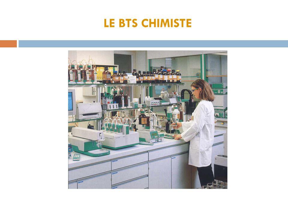 LE BTS CHIMISTE