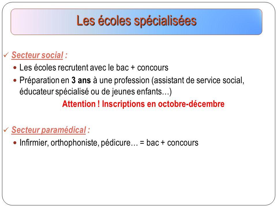 Secteur social : Les écoles recrutent avec le bac + concours Préparation en 3 ans à une profession (assistant de service social, éducateur spécialisé