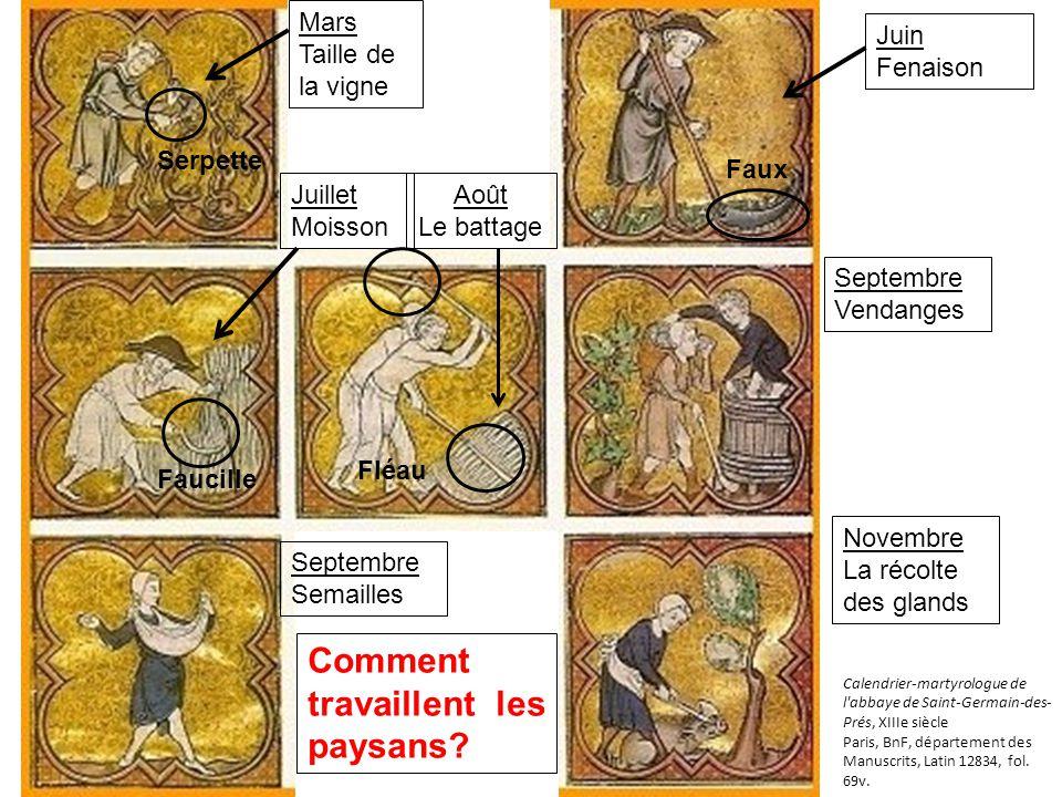 Calendrier-martyrologue de l abbaye de Saint-Germain-des- Prés, XIIIe siècle Paris, BnF, département des Manuscrits, Latin 12834, fol.