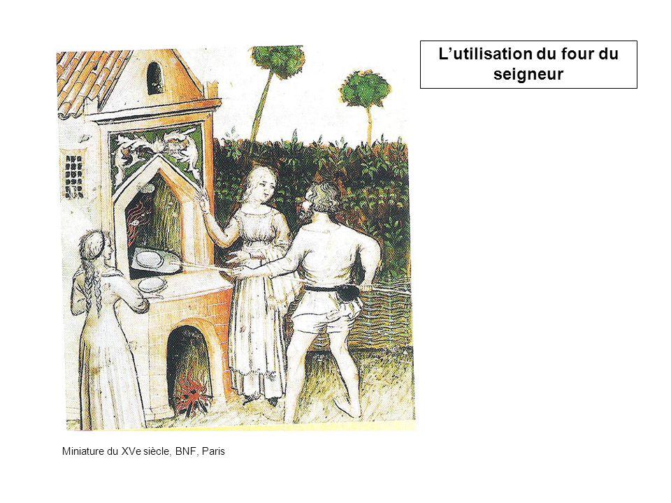 Miniature du XVe siècle, BNF, Paris L'utilisation du four du seigneur
