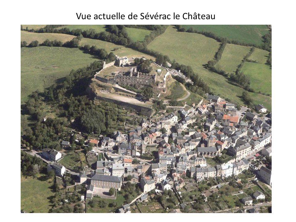 Vue actuelle de Sévérac le Château