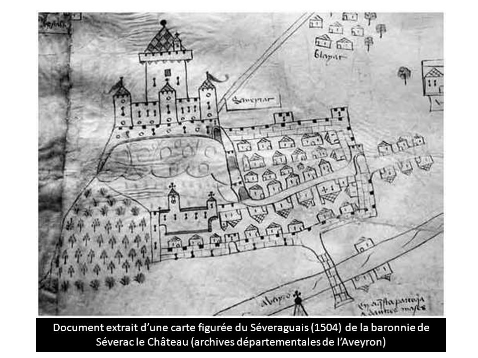 Légende Un territoire habité Château Prieuré saint Sauveur Village Maisons Routes et rue murailles