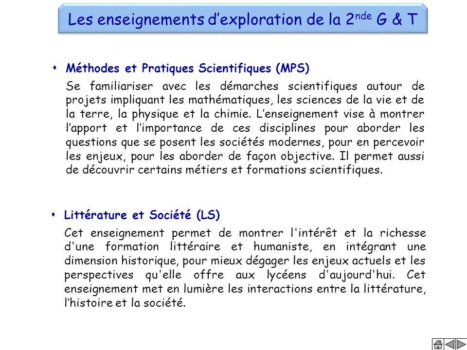  Méthodes et Pratiques Scientifiques (MPS) Se familiariser avec les démarches scientifiques autour de projets impliquant les mathématiques, les scien