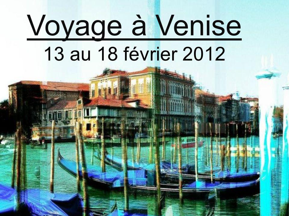 J1: lundi 13 février Départ vers Venise Rendez-vous à 21h30 sur le parking du collège