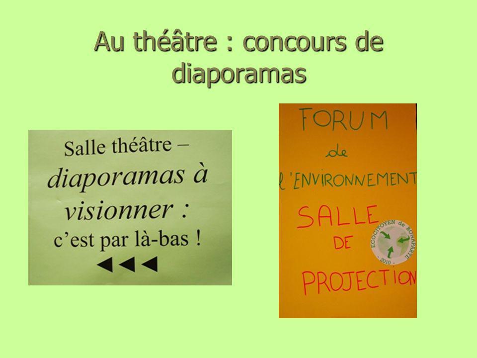 Au théâtre : concours de diaporamas