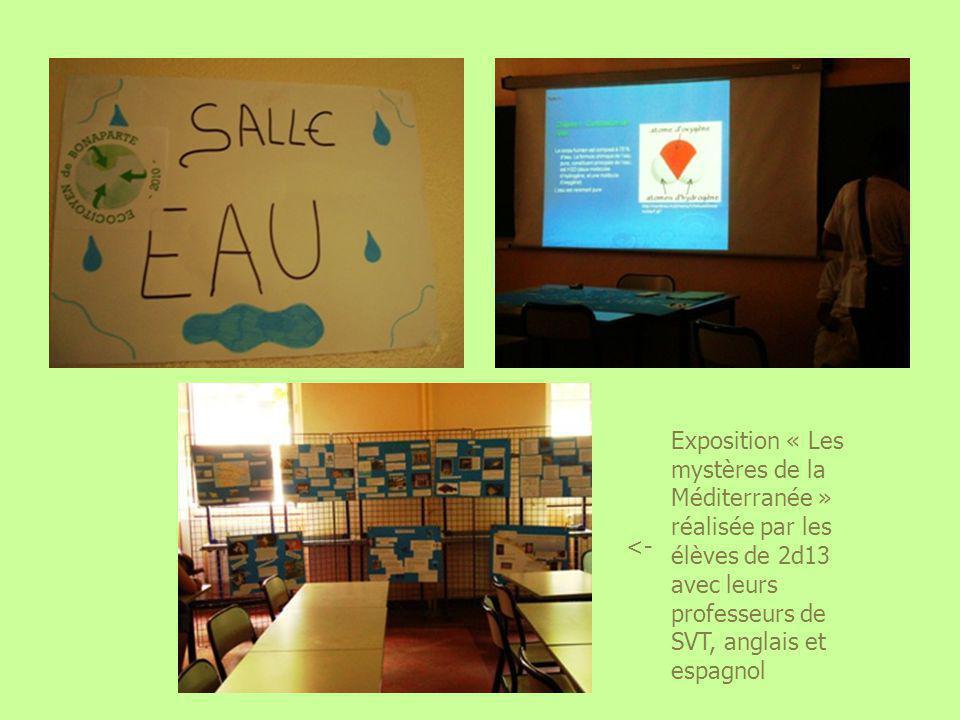 Exposition « Les mystères de la Méditerranée » réalisée par les élèves de 2d13 avec leurs professeurs de SVT, anglais et espagnol <-