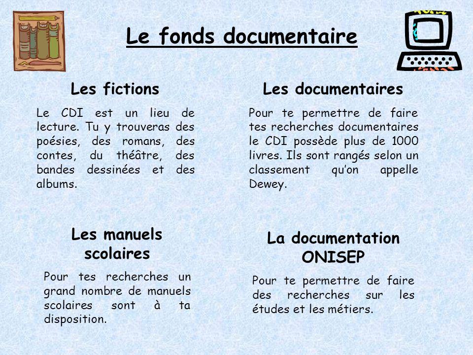 Le fonds documentaire Les fictions Le CDI est un lieu de lecture.