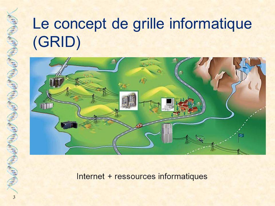 4 Différents types de grilles Grille d'information partage de la connaissance Grille de stockage stockage à grande échelle Grille de calcul agrégation de la puissance de calcul WEB sites Napster Internet Computing - decrypthon - Virtual SuperComputers - GénoGRID -