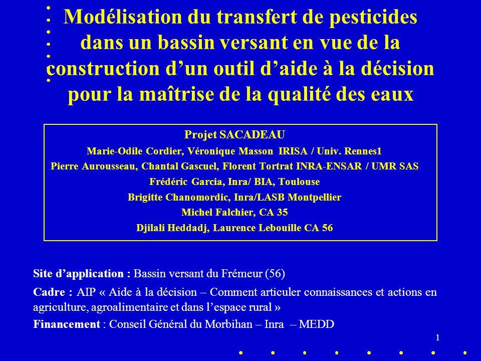 1 Modélisation du transfert de pesticides dans un bassin versant en vue de la construction d'un outil d'aide à la décision pour la maîtrise de la qual