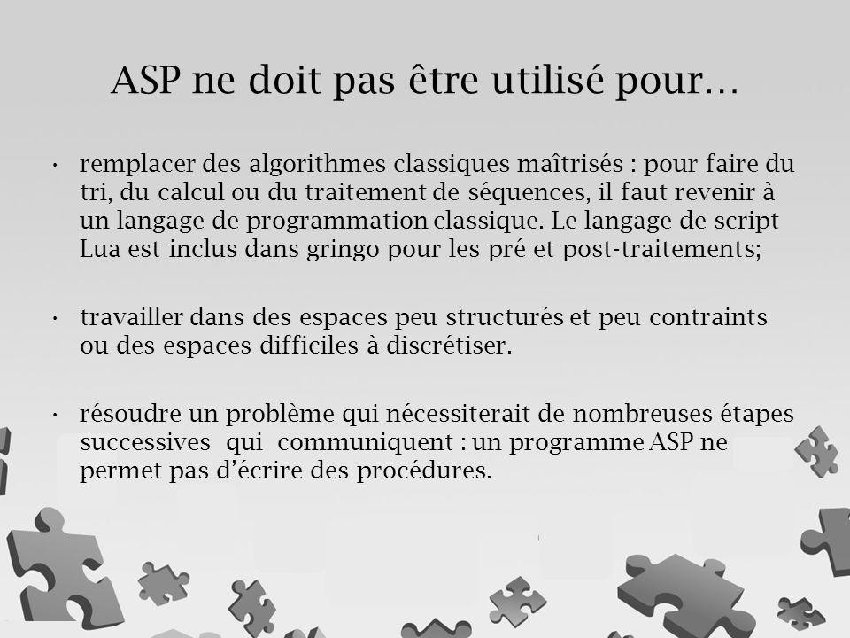 remplacer des algorithmes classiques maîtrisés : pour faire du tri, du calcul ou du traitement de séquences, il faut revenir à un langage de programma
