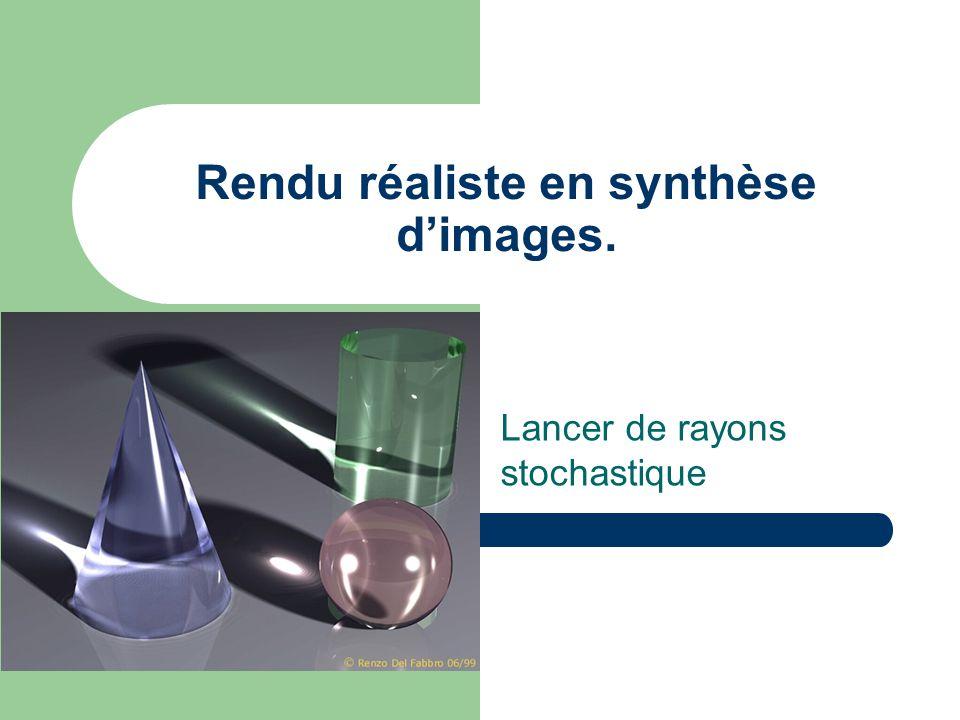Rendu réaliste en synthèse d'images. Lancer de rayons stochastique