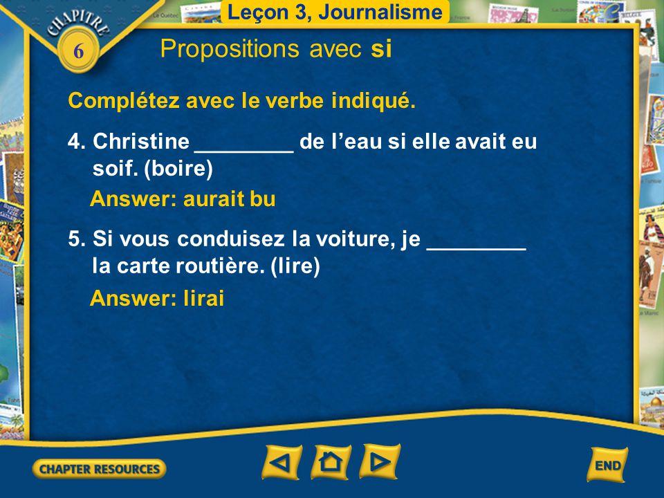6 Complétez avec le verbe indiqué.
