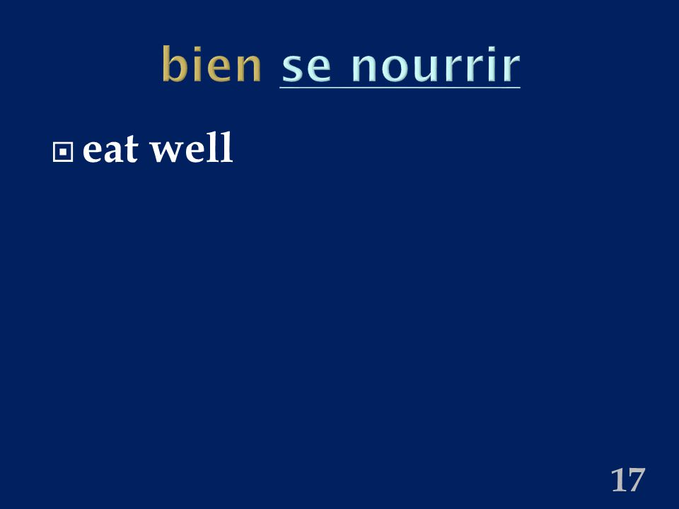 bien se nourrirse nourrir  eat well 17