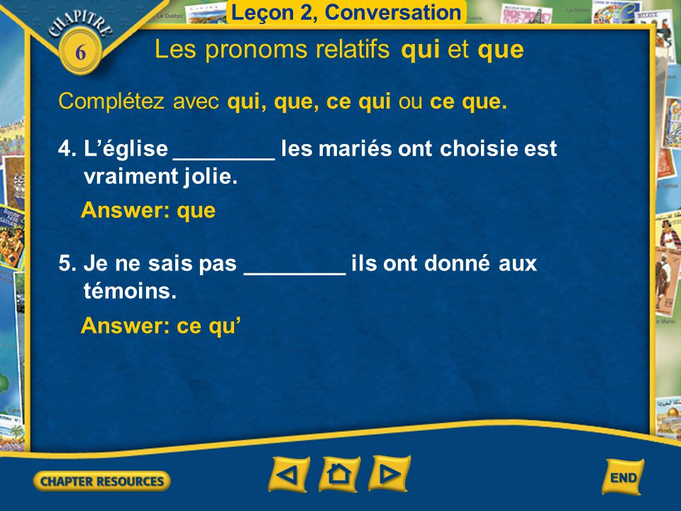 6 Le pronom relatif dont 1.The pronoun dont, like qui and que, is also used to join two sentences.