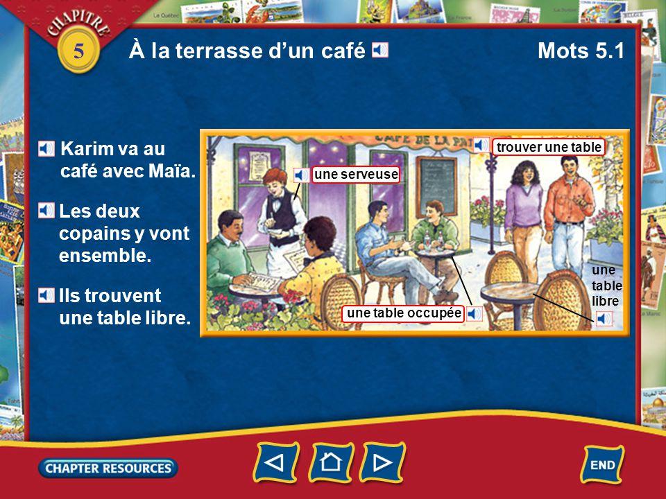 5 Identifying a place setting a spoon une cuillère une nappe une assiette une serviette a plate a tablecloth a napkin Vocabulaire (French–English)