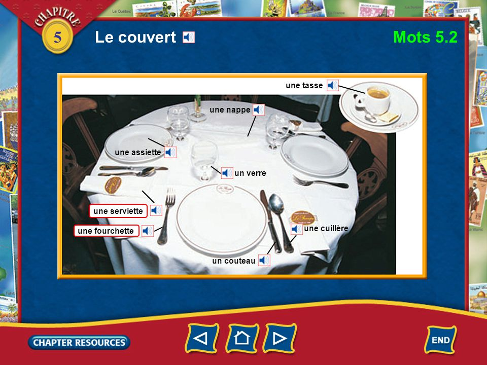 5 to go Getting along in a café or restaurant aller trouver une table commander inviter to find a table to order to invite payer to pay Vocabulaire (English–French)