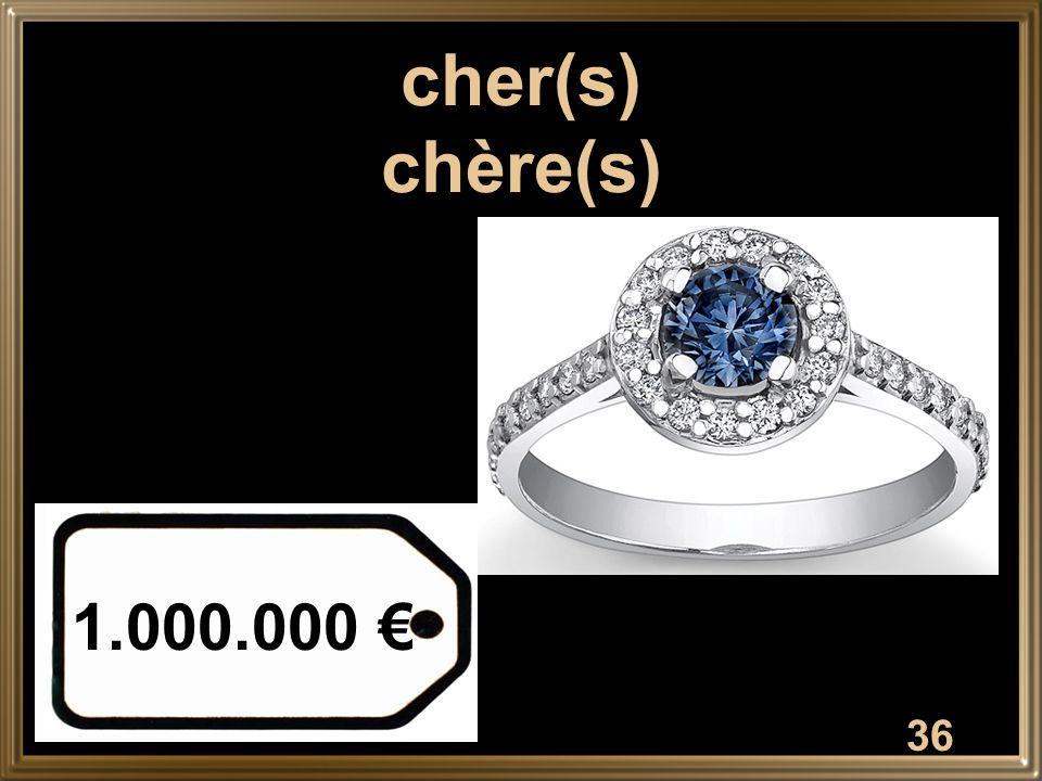 36 cher(s) chère(s) 1.000.000 €