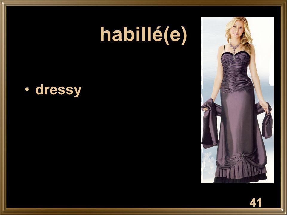 41 habillé(e) dressy