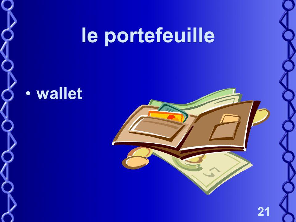 21 le portefeuille wallet