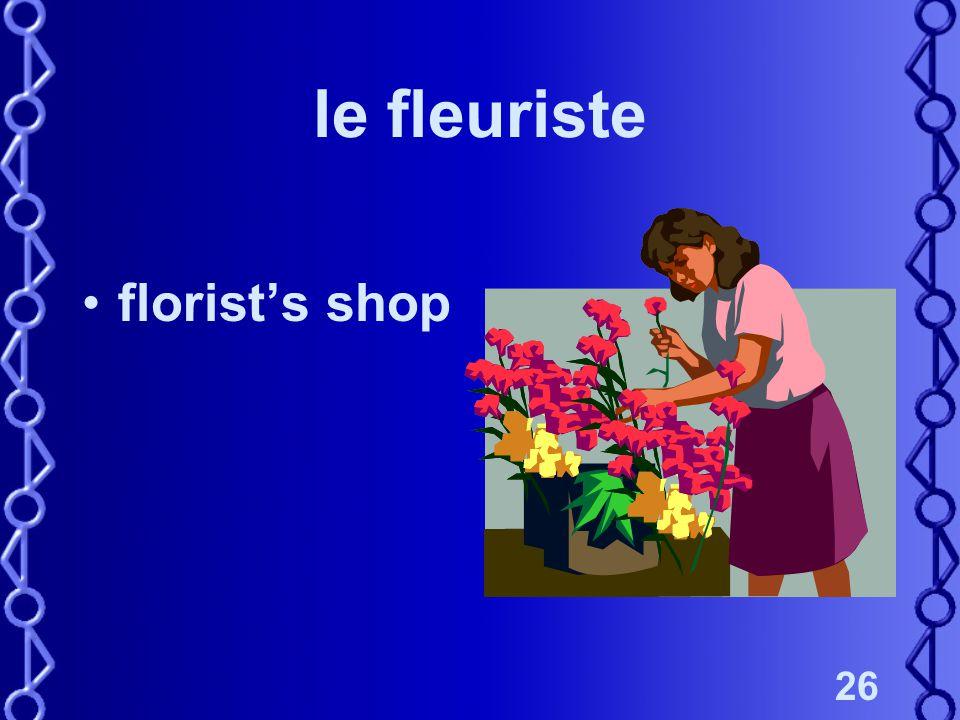 26 le fleuriste florist's shop