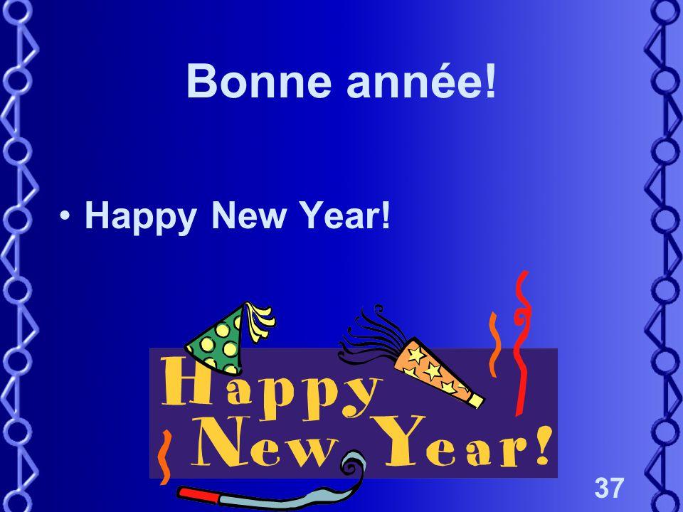37 Bonne année! Happy New Year!